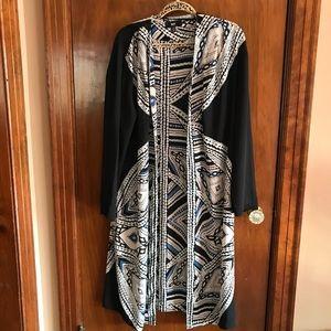 Missimo XL Long Kimono Black